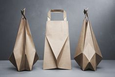 Graduation collection foldbags #packaging #geometric #product #brown #bag #paper