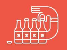 Dribbble - Beer by Brent Couchman #icon #beer #illustration
