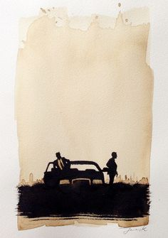 JensK True Detective #coffee #illustration #ink #poster