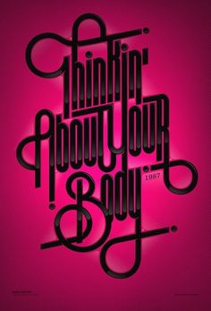 CUSTOM LETTERS, BEST OF 2010 DAY 2 — LetterCult #lettering #print #poster #type #typography