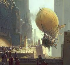 FUCK YEAH CONCEPT ART #airship #fantasy #steampunk #illustration #ship #concept #painting #art