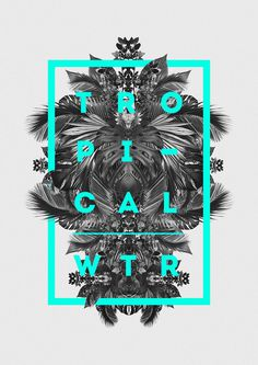 Tropical Winter #poster #typography