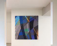 Art Installation Los Angeles - 6'x6' canvas #LA art #geometry #geometric #lobby art