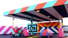 Colorful Street Art and Installations by Maser – Fubiz™ #installation #maser #art #street #colour