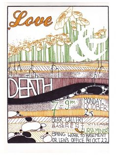 Gig and Event Posters on the Behance Network #gallery #ground #soil #illustration #poster #show #death #love #flowers