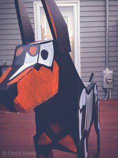 Tumblr, doberman.photos, shinyblackdeer #dia #muertos #los #cardboard #de #doberman #dog