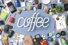 Customizable Coffee Branding Mockup