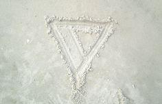 Veronica Mae #lifestyle #design #veronica #brand #triangle #sand #mae #logo