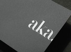 Stay Aka Card #branding #flux #aka #identity #stay #hotel #logo