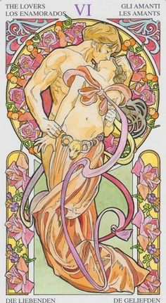 lovers+001.jpg (JPEG Image, 876x1600 pixels) #nouveau #illustration #tarot #art