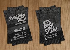 Elegant Grunge Business Card by Raincutter