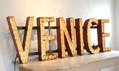 Typeverything.com - Venice Signage - Typeverything #light #box #typography