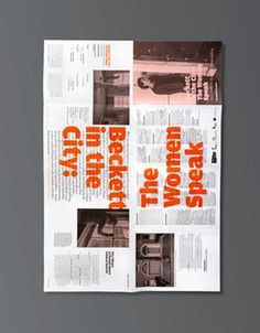 #design #layout #graphic #folded #programme #theatre #urbend