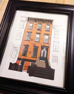 Brooklyn Brownstone on Behance #urban #brownstone #home #landscape #illustration #portrait #architecture #building #window #apartment #brooklyn