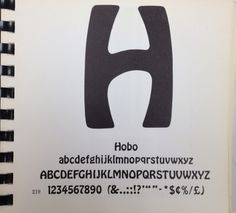 Daily Type Specimen | Hobo from ATF. Because sometimes I have to be... #typography