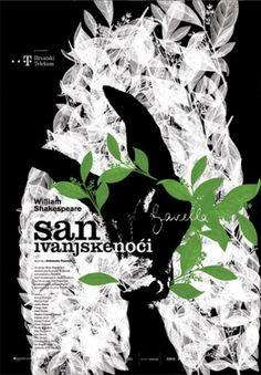 Studio Cuculić | Radovi - kazalište gavella, san ivanjske noći #design #graphic #poster