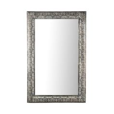 Metal Cutwork Narrow Frame Rectangular Mirror, 85cm x 55cm