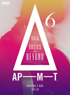 Japanese Poster: Back to the Basics, and Beyond. APMT6. 2011 #japanese #poster