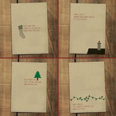 Holiday Haiku Greeting Cards and Remixed Christmas... - Some Things I Made #poem #card #design #christmas #holiday #haiku #typography
