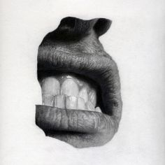 Lip - Jonny ShawGraphite pencil on paper, 22 x 22Â cm, 2010 #drawing #lip