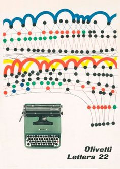 Olivetti Lettera 22 Poster | Flickr - Photo Sharing! #22 #olivetti #1956 #poster #pintori #lettra