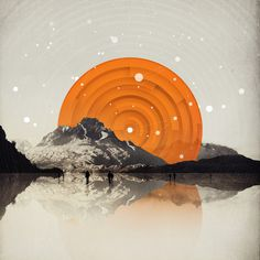 All We Have Is Now Art Print #geometry #design #graphic #nghbrs #landscape #patagonia #reflection