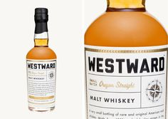 Westward Whiskey | Packaging #branding #packaging #label #bottle #whiskey #liquor