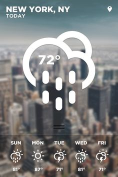 iOS Weather App on the Behance Network #iphone #app #weather