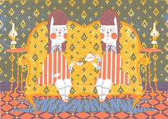 nobrow #twins #illustration #pattern #tea