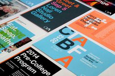 Stationery for Cleveland Institute of Art #helvetica