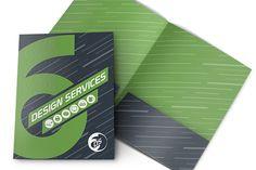 Six Design Services Folder Template | Free, Print-ready Design Template for Adobe Illustrator