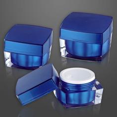 Cream Jar J04b Series Blue