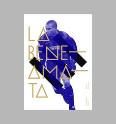 Football Trading Cards Art & Design by D. Kim #grid #poster #typography