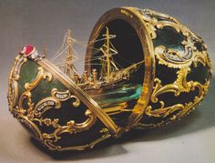 Fabergé Imperial Pamiat Azova Egg #egg #faberge