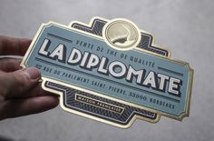 La Diplomate on Behance #seal #type