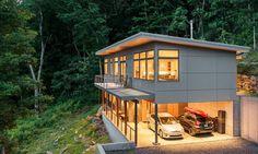 Modern passive solar residence