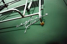 All sizes | Karmann Ghia | Flickr - Photo Sharing! #typography #green #automobile #chrome #karmann #care