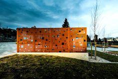 Public Space in Gora Pulawska - #outdoor, #architecture, #house, #landscaping, outdoor, architecture