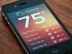 Dropbox weather photo #app #mobile #ui