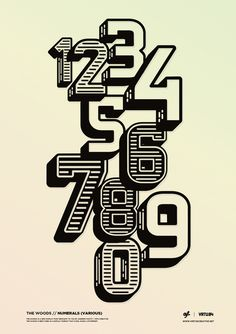 visualgraphc:The Woods Display Font Andrew Footit #design #poster #typography