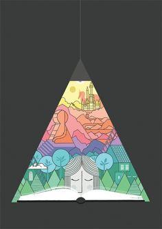 Deanna Halsall #line #colorful #reading #rainbow #drawing
