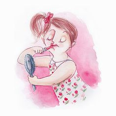 ILLUSTRATIONS FOR A BOOK GORGEOUS ON A SHOESTRING / Magdalena Koscianska, author: Leonie Piper, publisher: BWM Books (Australia), 2013 #make #girl #mirror #illustration #up #watercolor #lipstick #beauty