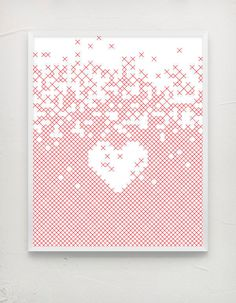x love #heart #white #red #design #graphic #clean #minimal #poster #typography