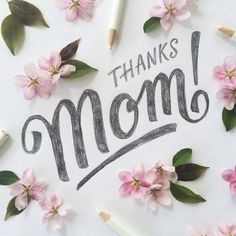 Thanks mom ❤️ Hand Lettering by Joseph Alessio