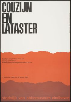 Couzijn and Lataster, designer: Crouwel, Wim #dutch #poster