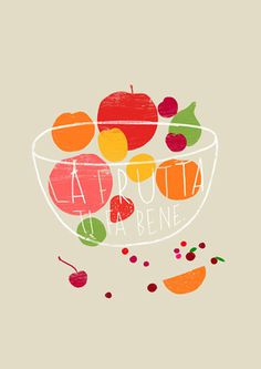 La frutta Art Print by Ana Zaja Petrak Easyart.com #inspiration #words #quote #print #design #art #poster #artprint