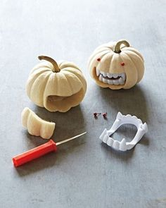FFFFOUND! #halloween #pumpkins #fake teeth
