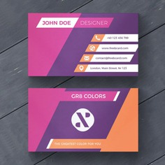 Purple and orange business card Free Psd. See more inspiration related to Logo, Business card, Mockup, Business, Abstract, Card, Template, Geometric, Office, Visiting card, Shapes, Presentation, Stationery, Corporate, Company, Modern, Branding, Visit card, Geometric shapes, Identity, Brand and Abstract shapes on Freepik.