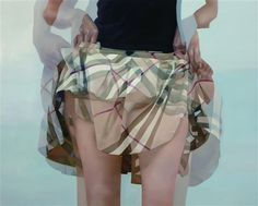 Blurry skirt. #burberry #skirt