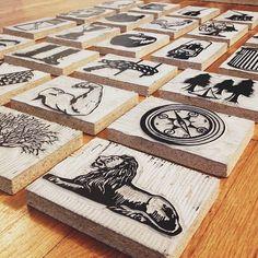carved #letterpress
